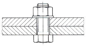 Drawing of tightened bolt